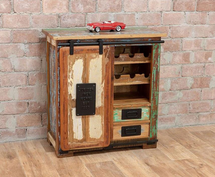 comoda stil industrial lemn reciclat sissoo. Black Bedroom Furniture Sets. Home Design Ideas